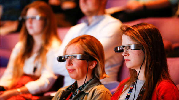 smart glasses accessible subtitles