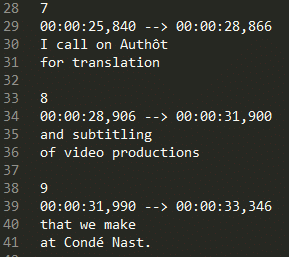 Files formats for automatic transcription and subtitling