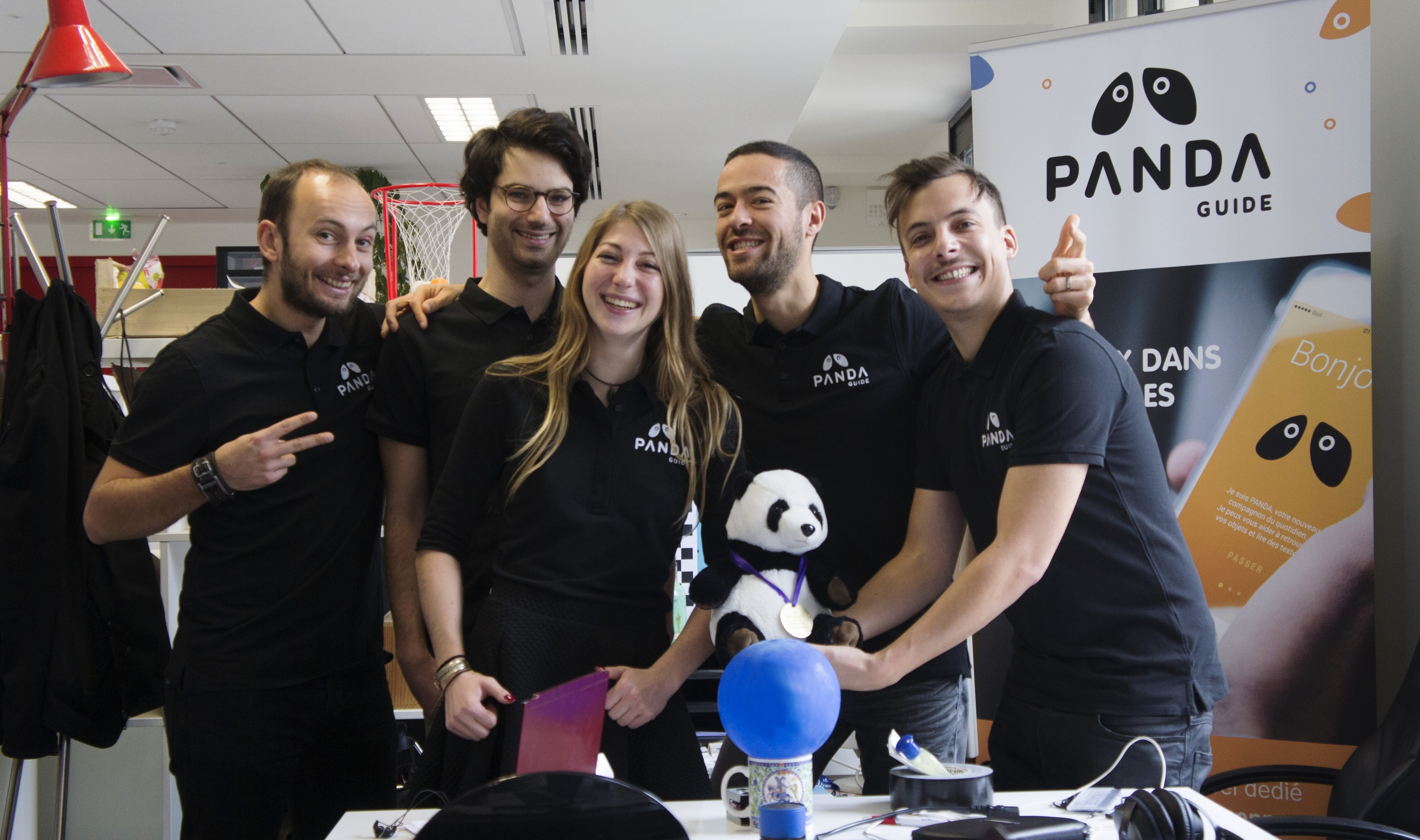 team panda for visually impaired people
