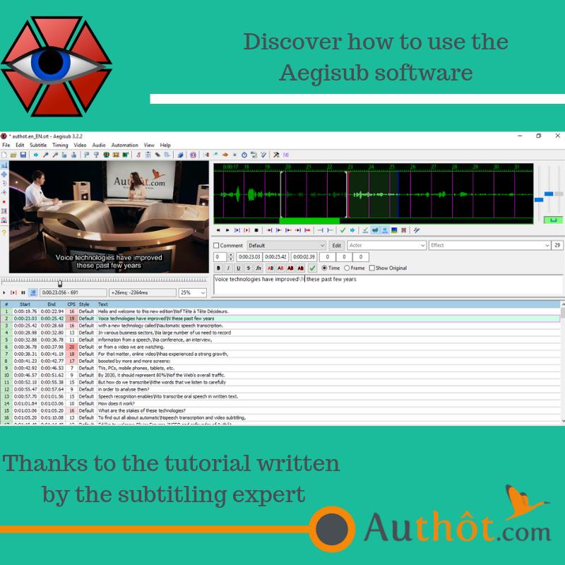 Editing subtitles easily done on Aegisub | Tutorial | Authôt