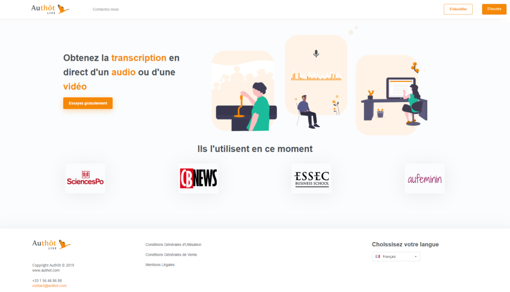 Authôt Live : la nouvelle solution pour transcrire en direct !