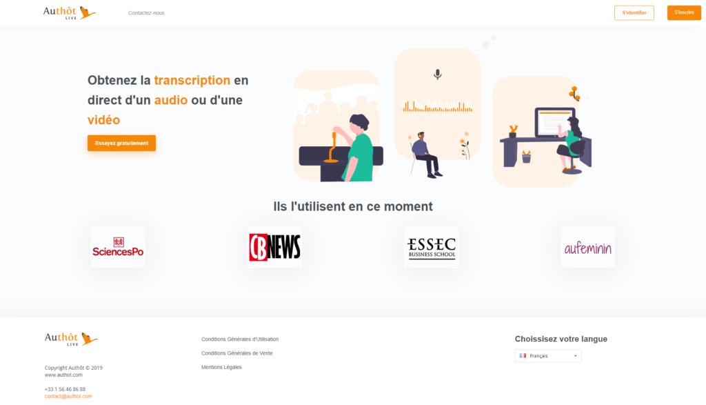 Authôt Live : la nouvelle solution pour transcrire en direct !