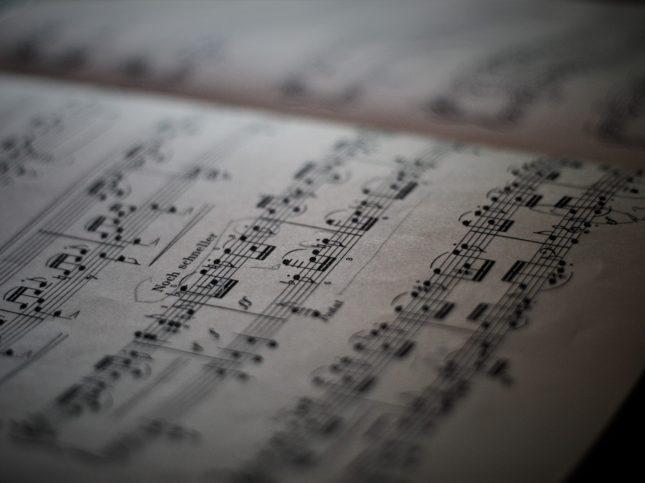Paroles de chansons : musique et transcription